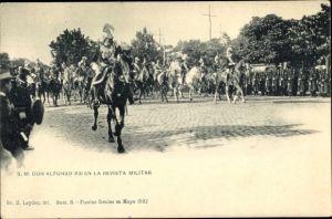 Ak Don Alfonso XIII en la revista Militar, Alfons XIII. König von Spanien