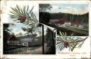 Passepartout Ak Eisenberg in Thüringen, Froschmühle, Mühltal