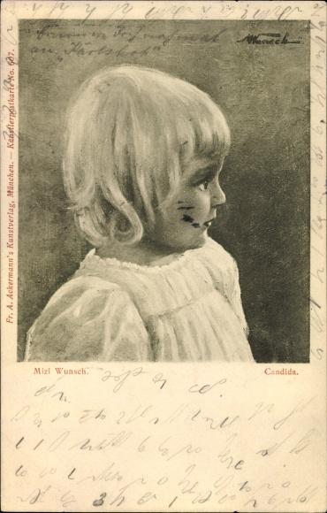 Künstler Ak Wunsch, Mizi, Candida, Portrait eines Kindes