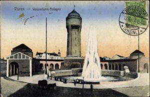 Ak Düren in Nordrhein Westfalen, Wasserturm Anlagen