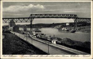 Ak Holtenau Kiel, Prinz Heinrich Brücke, K. Wilh. Kanal