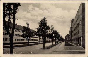 Ak Augsburg in Schwaben, Blick in die Donauwörther Straße