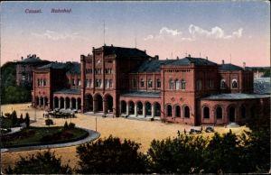Ak Kassel in Hessen, Ansicht vom Bahnhof, Straßenseite