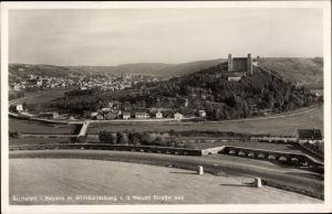Ak Eichstätt in Oberbayern, Totalansicht mit Willibaldsburg von der Neuen Straße aus