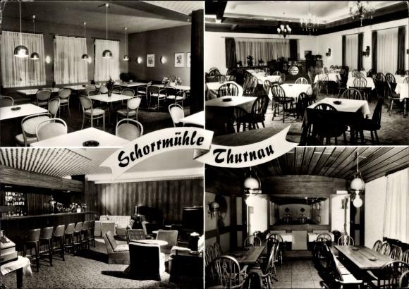 Ak Thurnau in der Fränkischen Schweiz Bayern, Teilansichten, Restaurant Schorrmühle