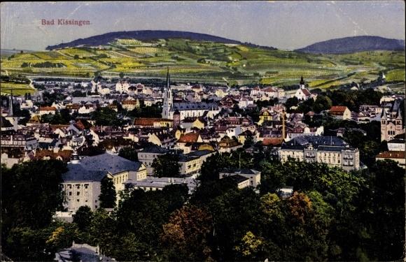 Ak Bad Kissingen Unterfranken Bayern, Totalansicht der Stadt