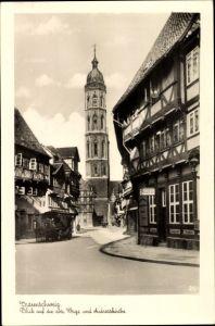 Ak Braunschweig in Niedersachsen, Blick auf die alte Waage und Andreaskirche