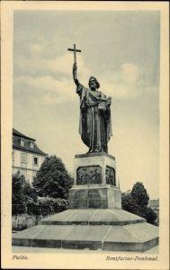 Ak Fulda in Osthessen, Ansicht vom Bonifacius Denkmal