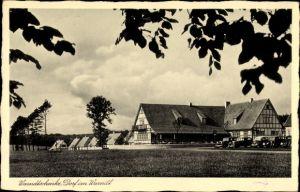 Ak Dorf im Warndt Großrosseln im Saarland, Blick auf die Warndtschenke