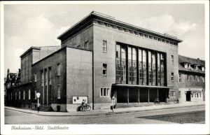 Ak Oberhausen im Ruhrgebiet, Blick auf das Stadttheater