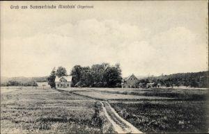 Ak Altenhain Trebsen an der Mulde Sachsen, Jägerhaus, Blick auf Ortschaft und Umgebung