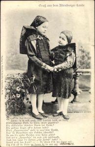 Ak Altenburg in Thüringen, Thüringer Kinder Hand in Hand, Gedicht