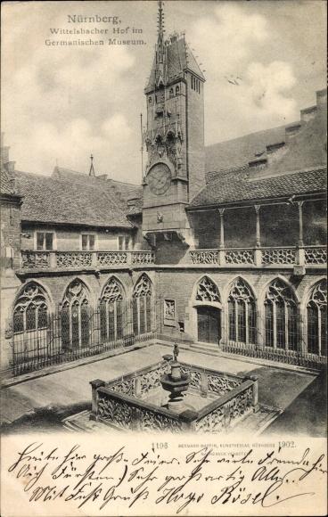 Ak Nürnberg in Mittelfranken Bayern, Wittelsbacher Hof im Germanischen Museum