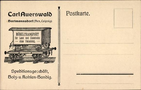 Ak Hartmannsdorf Knautnaundorf Leipzig In Sachsen Carl Auerswald