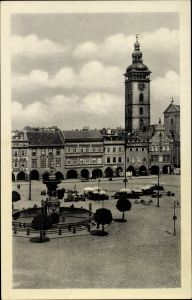 Ak Budweis České Budějovice Südböhmen Tschechien, Namesti, Markt, Brunnen