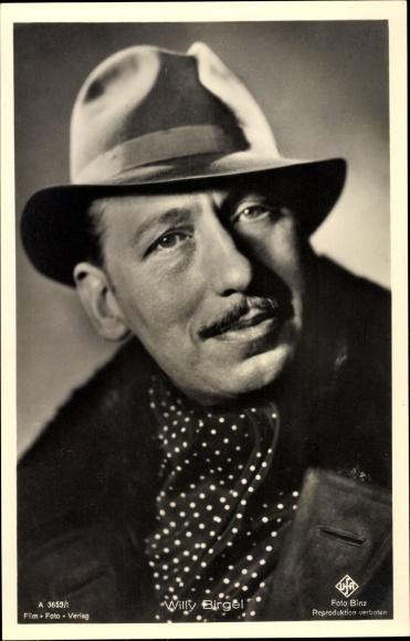 Ak Schauspieler Willy Birgel, Portrait mit Hut, UFA A 3659/1