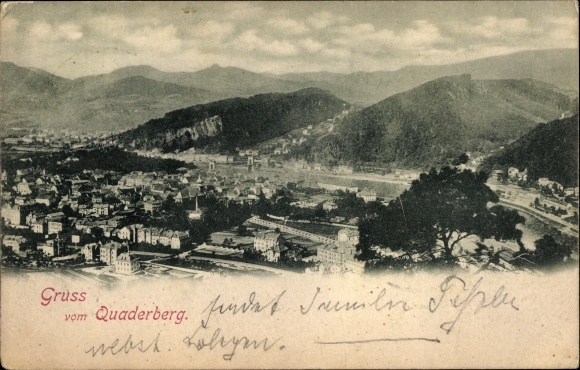 Ak Děčín Tetschen Bodenbach Elbe Reg. Aussig, Blick vom Quaderberg
