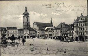 Ak Budweis České Budějovice Südböhmen Tschechien, Ringplatz, Namesti
