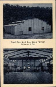 Ak Falkenau Flöha in Sachsen, Prunk Tanz Zelt, Bes. Georg Pönisch