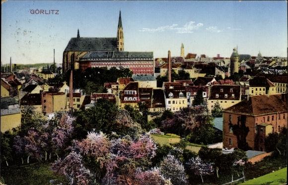 Ak Görlitz in der Lausitz, Blick auf die Stadt, Kirche