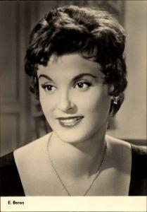Ak Schauspielerin E. Baron, Es geschah um Mitternacht