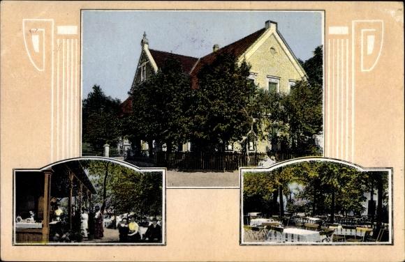 Jugendstil Ak Habenhausen Bremen Schierlohs Sommergarten Terrasse