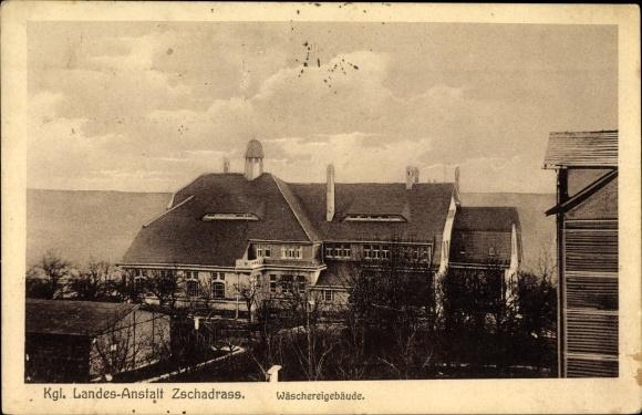 Ak Zschadrass Colditz in Sachsen, Kgl. Landes Anstalt, Wäschereigebäude