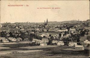 Ak Ebersbach Neugersdorf, Blick auf die Stadt von der Felsenmühle aus gesehen