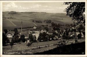 Ak Burkhardtsdorf im Erzgebirge Sachsen, Oberer Ortsteil, Blick auf Ortschaft und Umgebung