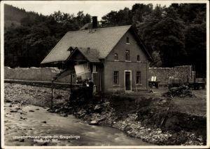 Ak Antonsthal Breitenbrunn im Erzgebirge, Unwetter Juli 1931, zerstörtes Haus, Hochwasser