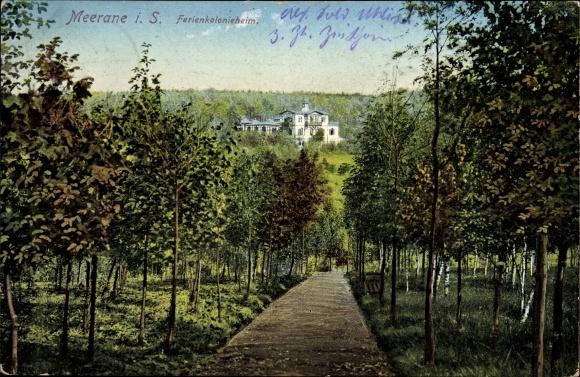 Ak Meerane in Sachsen, Blick auf das Ferienkolonieheim