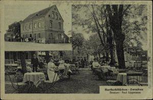Ak Zwenkau in Sachsen, Gasthof Harthschlösschen, Inh. Paul Lippmann, Gäste im Garten