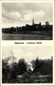 Ak Sitzenroda Belgern Schildau in Nordsachsen, Blick auf die Kirche, Weißes Haus
