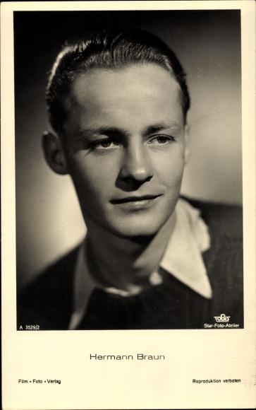 Ak Schauspieler Hermann Braun, Tobis Film, Portrait