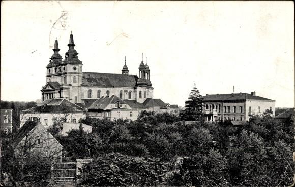 Ak Poznań Posen, Blick zum Dom mit Umgebung, Katedra