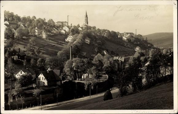 Foto Ak Johanngeorgenstadt im Erzgebirge Sachsen, Blick auf den Ort