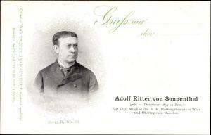 Ak Adolf Ritter von Sonnenthal, Schauspieler, K. K. Hofburgtheater in Wien, Oberregisseur