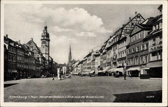 ak altenburg in th ringen vorderansicht der br derkirche nr 1304694 oldthing ansichtskarten. Black Bedroom Furniture Sets. Home Design Ideas