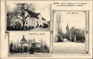 Ak Zeitlitz Bennewitz in Sachsen, Gasthof, Jagdhaus von Arnim, Villa Kerchner