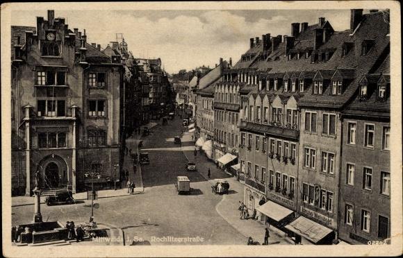 Ak Mittweida in Sachsen, Blick in Rochlitzer Straße