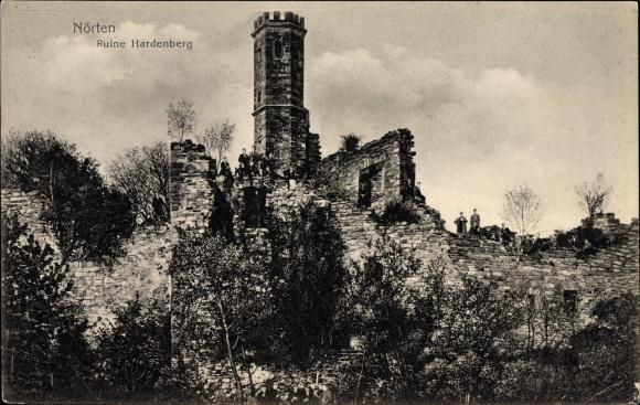 Ak Nörten Hardenberg in Niedersachsen, Blick zur Ruine