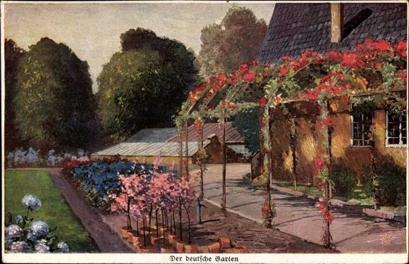 Künstler Ak Mein Gartenhaus, Wohlgemuth & Lissner, 1008