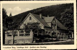 Ak Bad Iburg in Niedersachsen, Gast- und Kaffeehaus Zum Dörenberg, Hermann Bäumker