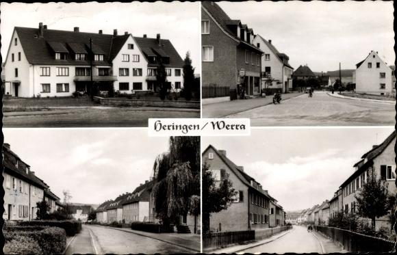 Ak Heringen an der Werra, Strassenansicht, Siedlung
