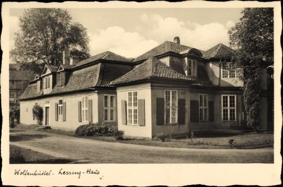 Ak Wolfenbüttel in Niedersachsen, Blick auf das Lessinghaus, Architekt J. H. L. Meyer