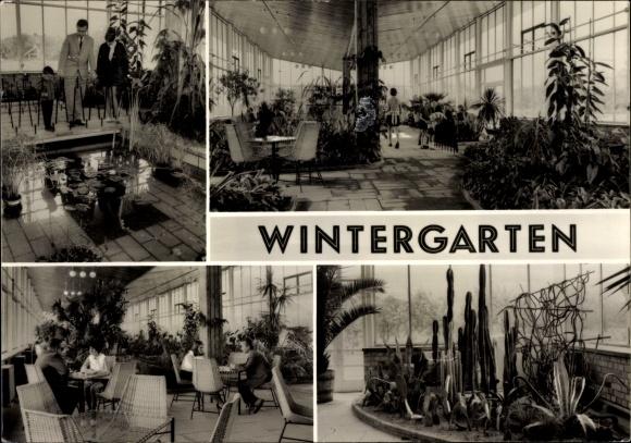 Ak Frankfurt Oder Partien In Der Ho Gaststatte Wintergarten Am Alten Wasserturm