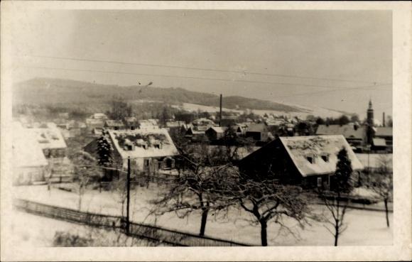 Foto Ak Eibau Kottmar in der Oberlausitz, Blick auf die Ortschaft im Winter