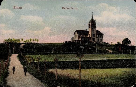 Relief Ak Eibau Kottmar in der Oberlausitz, Blick auf den Beckenberg