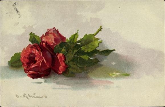 Künstler Litho Klein, Catharina, Ansicht einer Roten Rose
