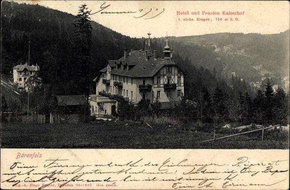 Ak Bärenfels Altenberg im Erzgebirge, Hotel und Pension Kaiserhof